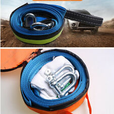 Heavy Duty Towing Kit 8 Ton 16ft Tow Strap Rope U-Hooks Gloves Off Road SUV ATV