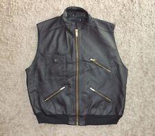 NEW Mens Real Leather Biker Jacket / Vest / Gillet - Size XL