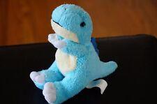 "PLUSH Toy WISHPETS Blue Baby Dinosaur DYNA Stuffed Animal MINI Tiny 4"" T-Rex"