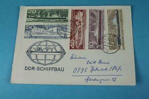 Alter Sobres - Rda Dependiendo Biberach De 1972 Con 5 Construcción Sellos / S1