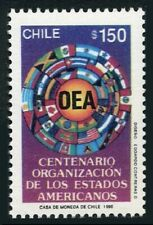Chile 894,MNH.Michel 1363. Organization of American States,centenary,1990.Flags.