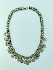 Belly Dance Head Chain/Necklace Decorated with Coins Exotic, Silver