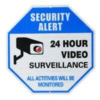 30*30cm 24 Hour Video Surveillance Warning Sign Security Alarm Novelty Aluminum