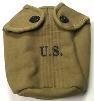 WWII US ARMY INFANTRY M1942 CANTEEN CARRY COVER-OD#3