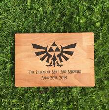 PERSONALISED THE LEGEND OF ZELDA LASER ETCHED/ENGRAVED WOODEN CHOPPING BOARD