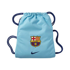 Nike Fc Barcelona 2017 - 2018 Soccer Shoe Sack Gym Pack Fitness Bag New Sky