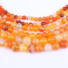 clearance-orange Crackled natural rockcrystal quartz round 8 to14 gemstone beads
