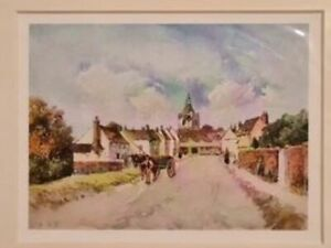 Louis Burleigh Bruhl Felsted The Old School 98 Year Old Mounted Print 1909