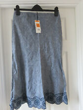 Marks and Spencer Classic Ladies Blue Linen Skirt Size 10 BNWT