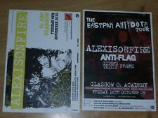 Alexisonfire live music show Scottish tour Glasgow concert gig posters x 2