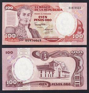 Colombia 100 pesos oro 1991 FDS-/UNC-  B-05