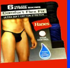 Hanes String bikinis briefs men`s 6-pack Soft tangas underwear