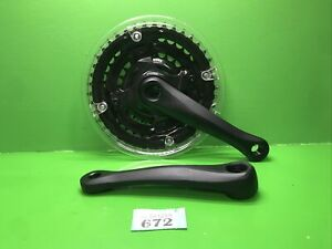 NEW ANARCHY24  152mm CRANK / CHAINSET 24,34,42T TAPERED 'BLACK' MTB n/672