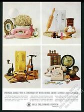 1964 Bell Telephone pink Princess phone 3 other models photo vintage print ad