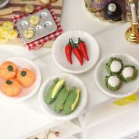1:12 scale 5 PCS Polymer Clay Vegetables Mini Clay Food Dollhouse