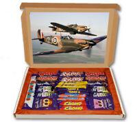 Spitfire RAF Army British 24 Bar Cadbury Chocolate Hamper Personalised Gift Box