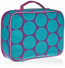 Wildkin Big Dots Aqua Adult Lunch Box (Big Dots Aqua) Model 33119 Free Shipping