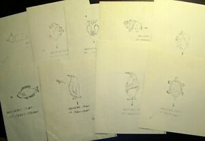 Peach Pit Stone Carving Templates: Cat Monkey Owl Buffalo Squirrel Fish Turtle+2