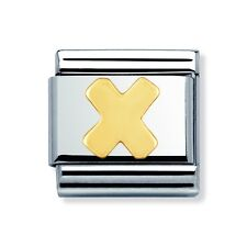 Genuine Nomination Classic Link Charm Letter X Brand New Stock Clearance rrp £18