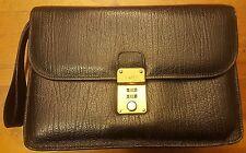 Vintage, BALLY, Black, Genuine Leather, Organizer, Wristlet Bag, 1970s