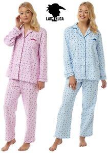 Ladies Warm Brushed Cotton Winceyette Pyjamas PJ's by Lady Olga Christmas Gift
