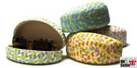 Pastel Paper Woven Clam Sunglasses Case