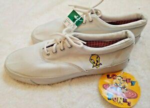 Vintage Tweety Bird Tennis Shoes 1997 Size 6 Warner Bros Canvas Sneakers