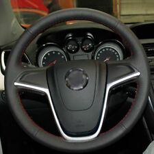 Hand SewingBlack Leather Steering Wheel Stitch on Wrap Cover For Buick Encore