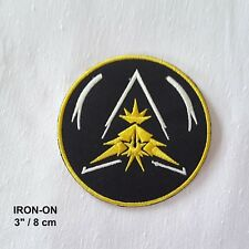 Triangle Black Yellow Embroidered Iron-on Pikatchu Badge Patch Pokemon Applique