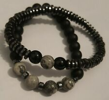 Black Magnetic Hematite Bracelet Bangle Beads Pain Relief Therapy Arthritis HOT