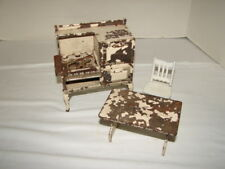 VINTAGE LOT ARCADE CAST IRON METAL DOLLHOUSE FURNITURE TABLE CHAIR STOVE TOY