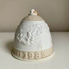 Lladro Christmas 1989 Collectors Porcelain Bell with Original Box
