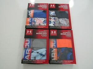 Under Armour Boys 2 Pack Boxerjock Boxer Brief New