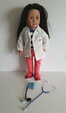 """Our Generation DOLL - Nicola OG MD 18"""" - Fits American Girl. Doctor Doll"""