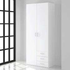Kleiderschrank Suos Schlafzimmer Drehtürenschrank Schrank weiß 78 cm