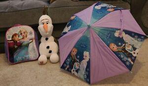 Disney Frozen Bundle Olaf Bag Umbrella