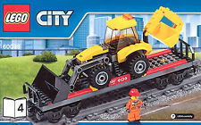 LEGO® City Eisenbahn Tieflader-Waggon m. Radlader/Bagger NEU 60098 Schwerlastzug