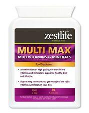 Zestlife Multi-Vitamin & Mineral Vitality Support 30 capsules immune system