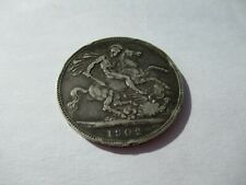 More details for 1902 silver crown edward 7th scarce year collectable