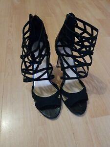 Lipsy Black strappy Heels UK7/40