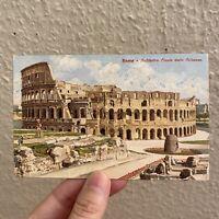 Alte Postkarte Ansichtskarte 1920er Rom KOLOSSEUM im VOR-TOURISMUS!!! 9x14cm