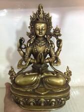 """9"""" Handmade Buddhism Kacheri Statue Amitayus Buddha Statue,Nepal"""