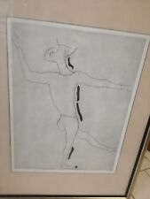 Marino Marini Giocoliere PA prova d'artista d'autore litografia firmata 50x70 cm