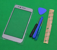 Silver Front Panel Screen Glass Lens Replacement For LG Aristo /K8 2017 /MS210