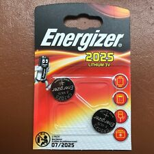 Energizer CR2025 3V Lithium Coin Cell Battery DL 2025 - Pack of 2 Longest Expiry