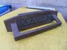Poignée porte portail et boite a lettres door handle letter box art deco bronze