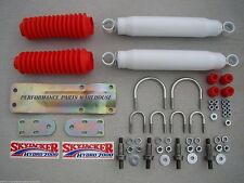 DUAL FRONT STEERING STABILIZER SHOCK KIT 67-91 CHEVY GMC TRUCKS BLAZER SUBURBAN
