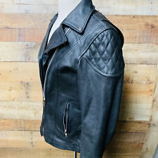 XL Womans Leather Motorcycle Jacket Zip Out Liner Vented Gun Pocket #1581