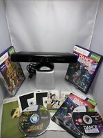 xbox 360 kinect And X2 Games Adventures And  Dance Central Bundle  Free P&p