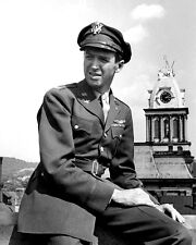 Jimmy James Stewart In The Army Pose BW 10x8 Photo
